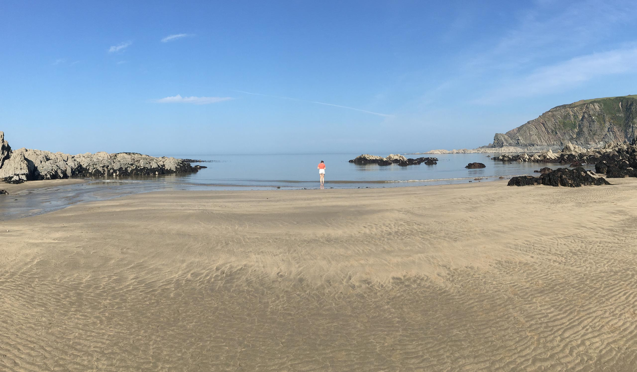 Lee bay beach with jess